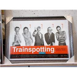 "Framed ""Train Spotting"" Movie Poster"