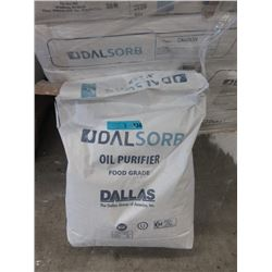 Five 50 lb. Bags of Dalsorb Food Grade Oil Purifier