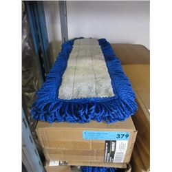 """Case of 6 New 24"""" Fringed Microfiber Mop Pads"""