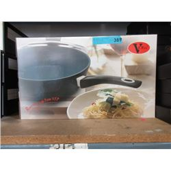 """New Ceramic Coated  11"""" Sauté Pan with Glass Lid"""