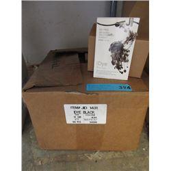Case of New iDye Fabric Dye Packets - Black