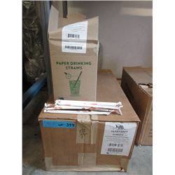 Case of Compostable Paper Drinking Straws
