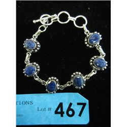 """New 8"""" Sapphire Bracelet with Toggle Clasp"""