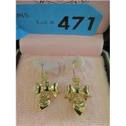 Juicy Couture Heart & Bow Earrings - Original Case