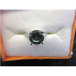 New 1 Carat Mystic Topaz Solitaire Ring - Size 7