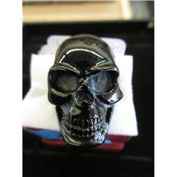 Large Stainless Steel Biker Skull Ring