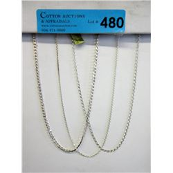 """3 New 16"""" Sterling Silver Chains"""
