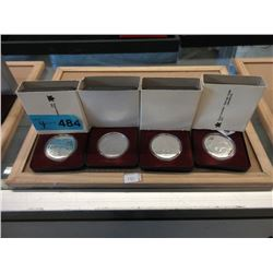 Four 1980 Canadian 50% Silver Proof Dollar Coins