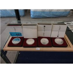 Four 1979 Canadian 50% Silver Proof Dollar Coins