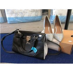 Guess Handbag and Pair of Size 8 High Heel Shoes