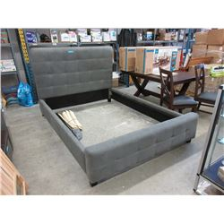 New Queen Size Fabric Upholstered Bed Frame