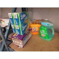 Detergents, Ziploc Bags & Garbage Bags