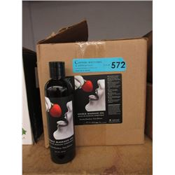 Case of 24 Eight Oz Bottles of Edible Massage Oil