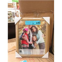 """2 Cases of 12 New 8"""" x 10'  Oak Picture Frames"""