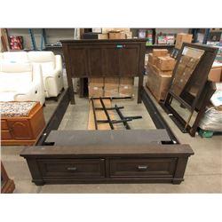 New Queen Size Storage Bed
