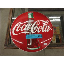 12' Enameled Steel Coca-Cola Button Sign