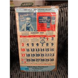 1960 Rexall Pharmacy Calendar