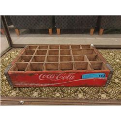 Vintage Wood Coke Bottle Flat