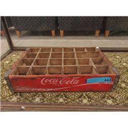 Vintage Wood Coke Bottle Flat