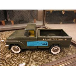 Vintage Structo US Army Troop Carrier