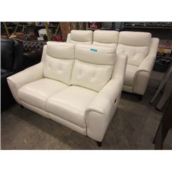 New Okin Leather Power Reclining Sofa & Loveseat