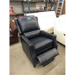 New Amax Navy Leather Pushback Recliner