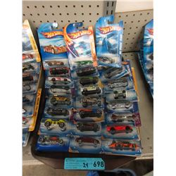 24 New Hot Wheels Vehicles - Sealed Packages
