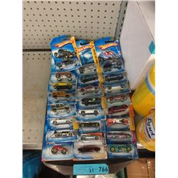 21 New Hot Wheel Vehicles - Sealed Packages