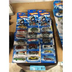 21 New Hot Wheels Vehicles - Sealed Packages