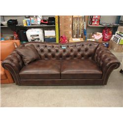 """New 86"""" Amax Brown Leather 2 Seat Sofa"""