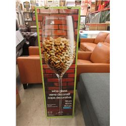 """New 46"""" Tall Giant Wine Glass"""