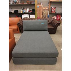 New Fabric Upholstered Contemporary Chaise