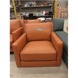 New Amax Caramel Feather Filled Leather Arm Chair