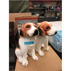 "Pair of New 17"" Tall Stuffed Beagle Dog Toys"