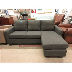 New Fabric Upholstered Sofa with Chaise End