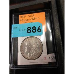 1885 USA Morgan Silver Dollar Coin - .900 Silver
