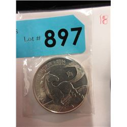 1 Oz. .999 Fine Silver Year of the Horse Round