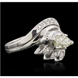 14KT White Gold 1.26 ctw Diamond Ring
