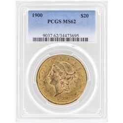 1900 $20 Liberty Head Double Eagle Gold Coin PCGS MS62