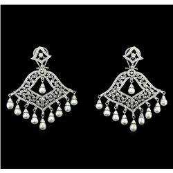 2.95 ctw Diamond Earrings - 14KT White Gold
