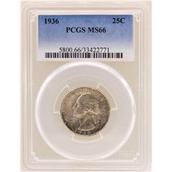 1936 Washington Quarter Coin PCGS MS66