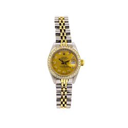 Rolex 14KT Two-Tone Diamond DateJust Ladies Watch