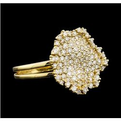 1.05 ctw Diamond Ring - 14KT Yellow Gold