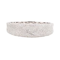 10.70 ctw Diamond Bangle Bracelet - 14KT White Gold