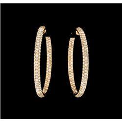 7.92 ctw Diamond Earrings - 14KT Rose Gold