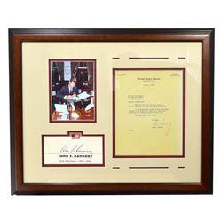 Very Rare Museum Piece Signed John F. Kennedy Letter  -PNR-