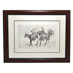 Rare Limited Edition Frederick Kennington Lithograph Museum Framed -PNR-