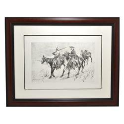 Rare Limited Edition Frederick Kennington Lithograph Museum Framed -PNR-