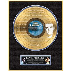ELVIS PRESLEY ''The Number One Hits'' Etched Gold LP