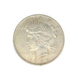 Rare 1923 U.S. Peace Type Silver Dollar